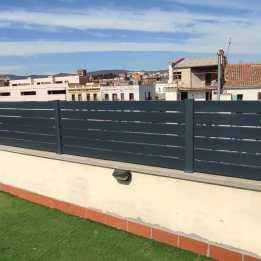 Instalación Valla Aluminio en terraza de Igualada 5
