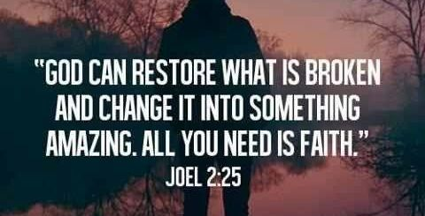 God can restore what is broken