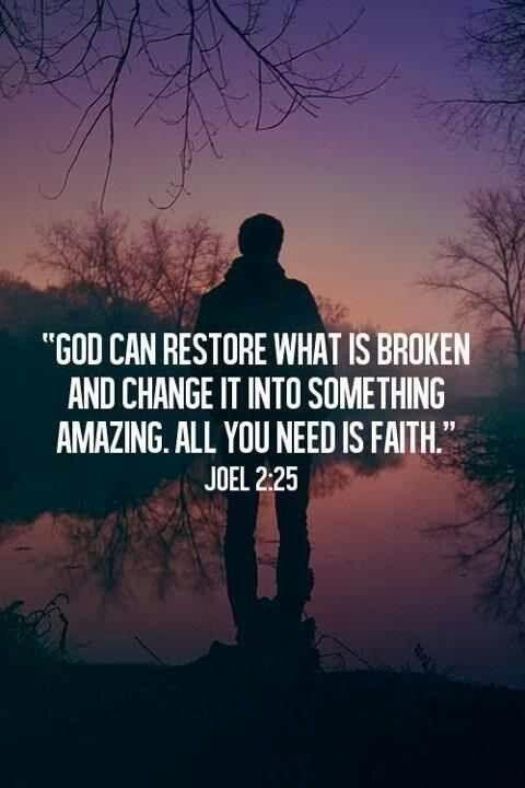 God can restore what is broken