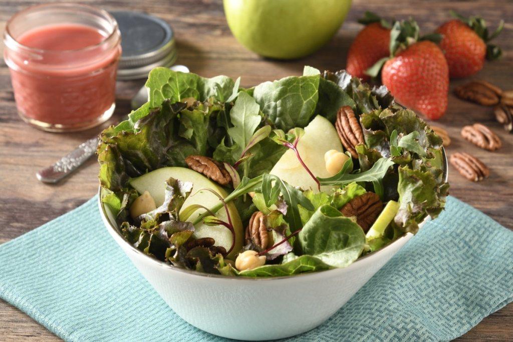 Ensalada de Manzana con Garbanzo y Nuez – Receta de Comida para Diabéticos