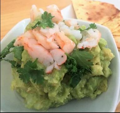 guacamole con langostino - Cómo hacer Guacamole Mexicano con Langostinos