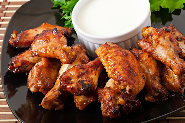 Alitas de Pollo al horno con miel y salsa de soja - Baked Chicken Wings Recipe with Honey and Soy Sauce