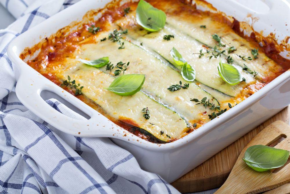 lasaña de calabaza - Pumpkin Lasagna Recipe with Ham and Cheese