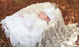 Haute Baby Christening Gown