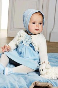 Mayoral Baby Girl Dress & Bonnet