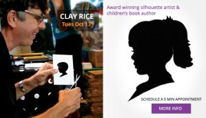 Clay Rice Children's Silhouette Artist at GoodHearts in Reading