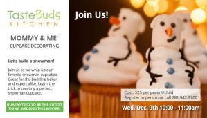 Cupcake building event for Moms and Child in Reading MA