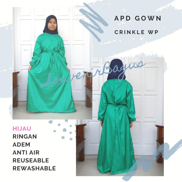 APD Gown Perawat Waterproof Hijau Taslan