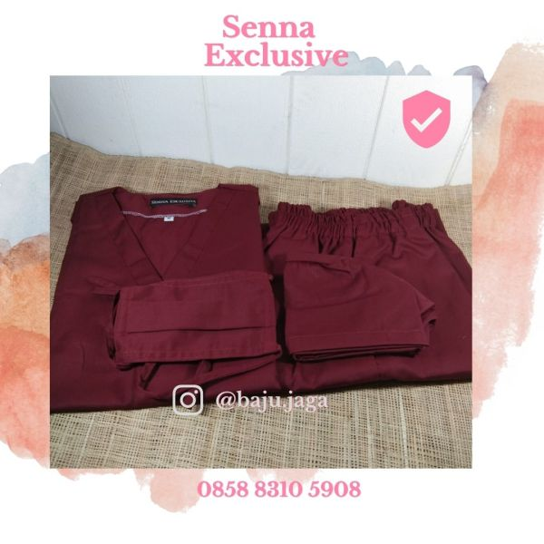 Baju jaga baju oka merah marun murah bagus