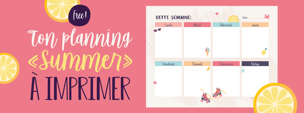 Le Weekly Planner Summer A Imprimer Gratuitement Goodie Mood