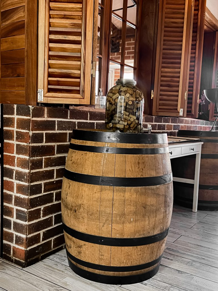 Barrel decor at cantina restaurant abuja