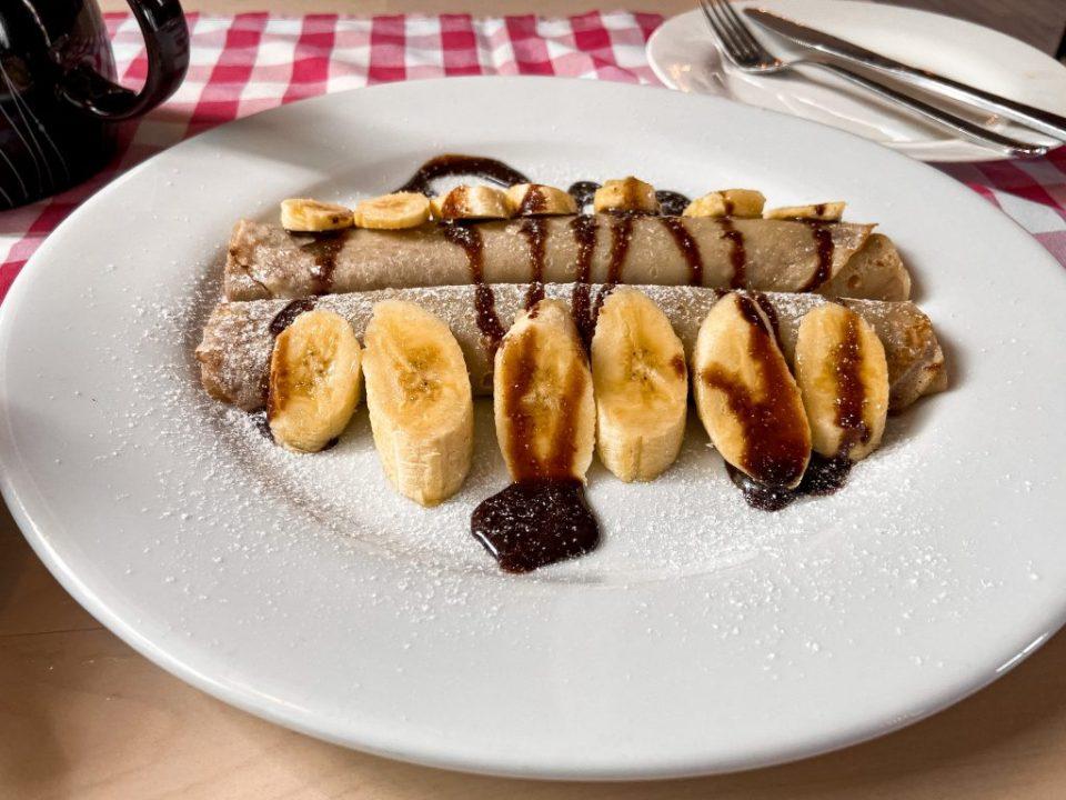 nutella crepe at cantina restaurant abuja