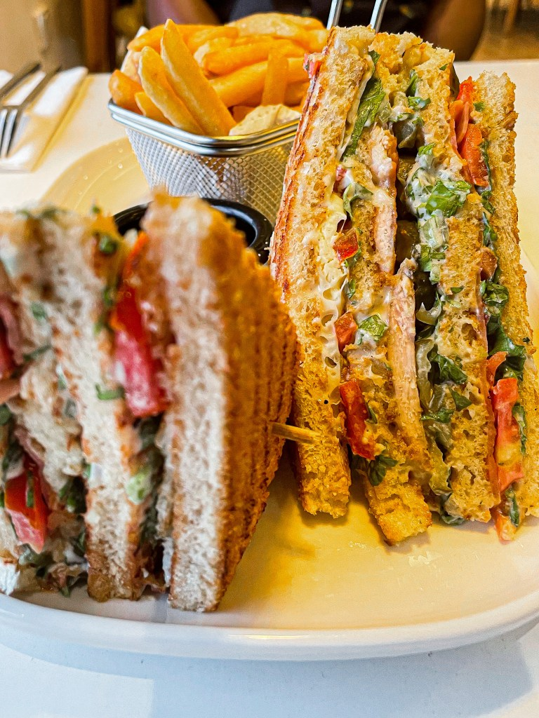 club sandwich at essence by the grid
