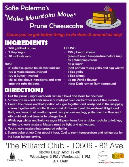 Sofie's Make Mountains Move Prune Cheesecake Recipe
