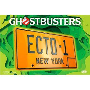 """Plaque métal Ghostbusters Officielle """"ECTO-1"""""""