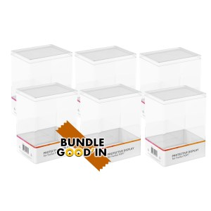Bundle 6 Protective cases hard stack Clear