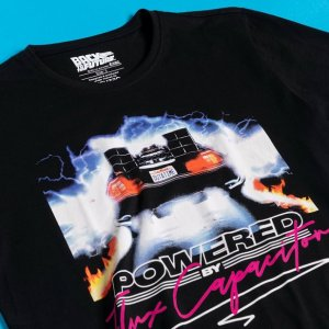 "T-Shirt Retour vers le futur ""Powered"" Noir"