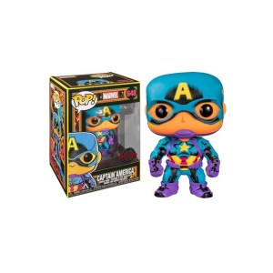 "Funko Pop Marvel Captain america ""BLACK LIGHT"" – 648"