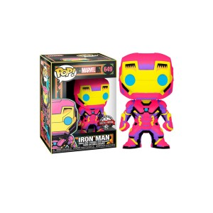 "Funko Pop Marvel Iron Man ""BLACK LIGHT"" – 649"