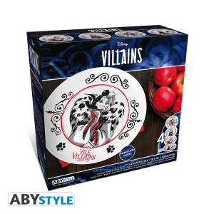Assiettes porcelaine Disney Villains lot de 4