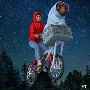 Figurine E.T Extraterrestre & Elliot Iron studios