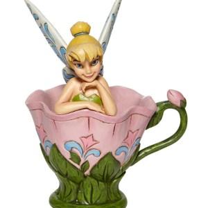 Figurine Disney Fée clochette / Tinkerbell dans sa fleur