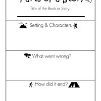 Parts of a Story Free Printable Worksheet
