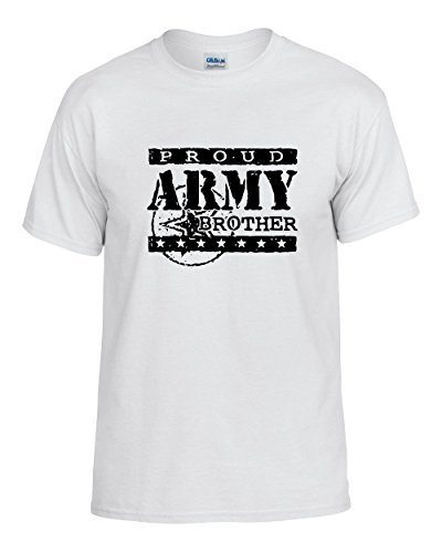 Proud army brother t shirt military family shirt mens for Military t shirt companies