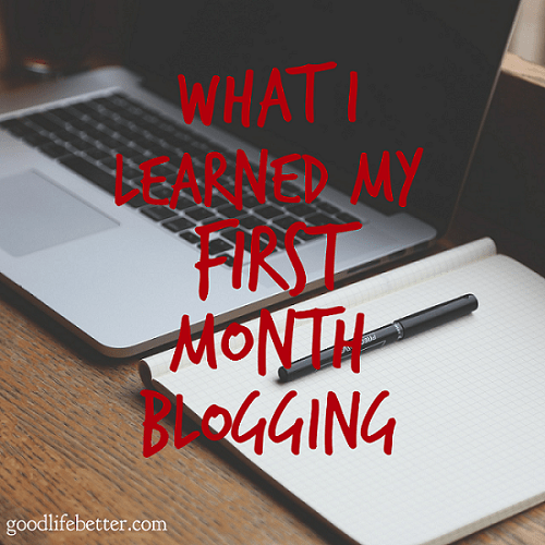 It has been a crazy first 30 days of blogging!