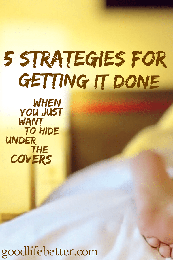 Need to get some stuff done but lack motivation?  One of these 5 strategies will get you moving.