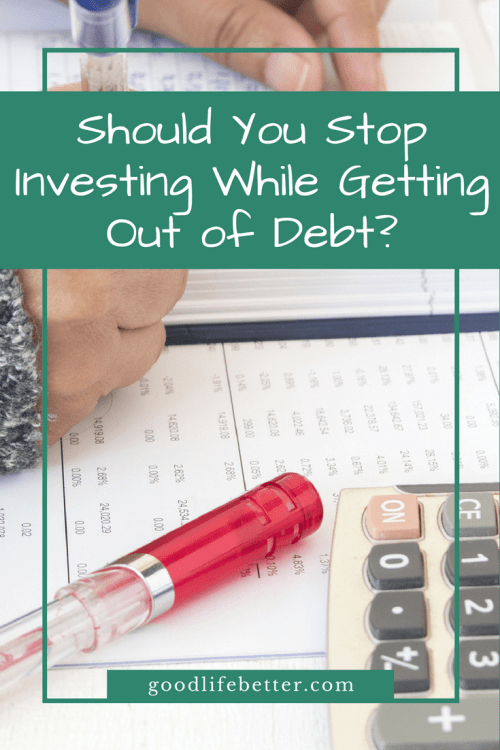 Although I did cut my savings rate I continued investing during my debt snowball (and don't regret it!).