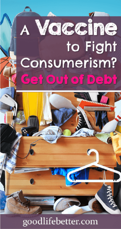 A key for me in reducing mindless spending is setting money goals worth fighting for (like crushing my debt!)