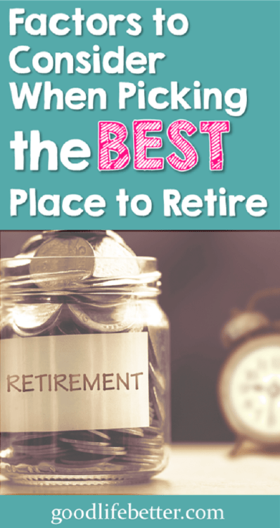 I have been thinking a lot about my best place to retire too--choosing the right place will matter to how happy I am in retirement!