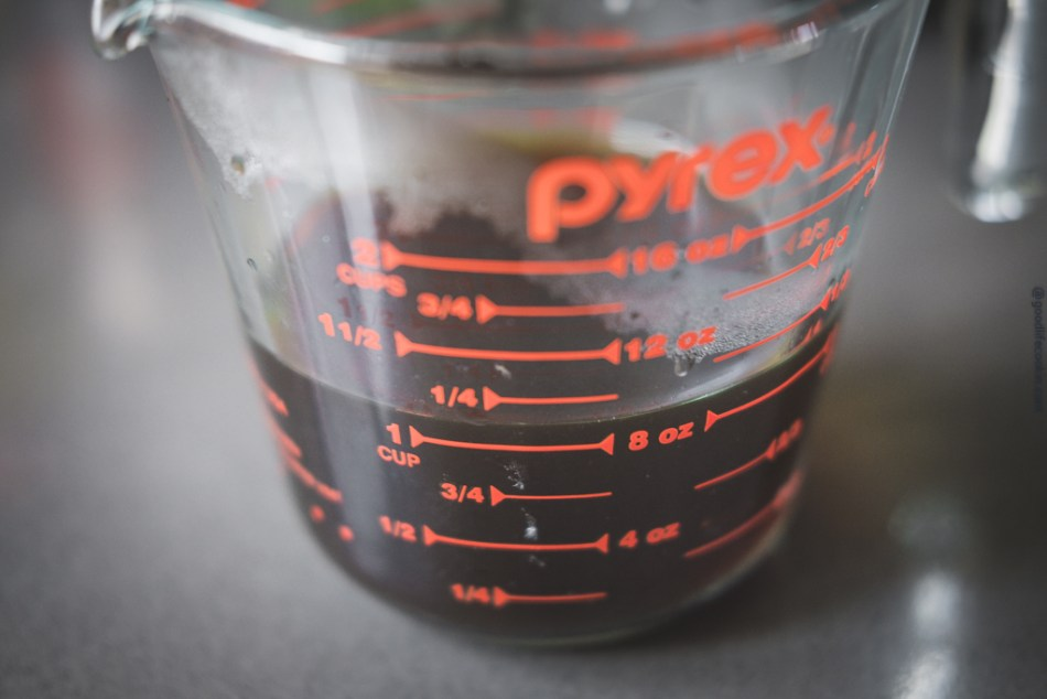 Pyrex Cup of Soy Broth