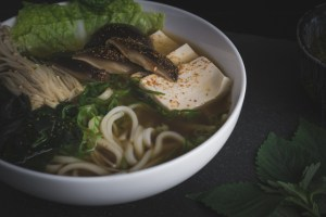 Japanese Udon in Shiitake Broth