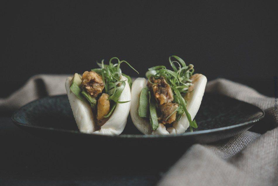 Crispy Shiitake With Chinese Steamed Bun