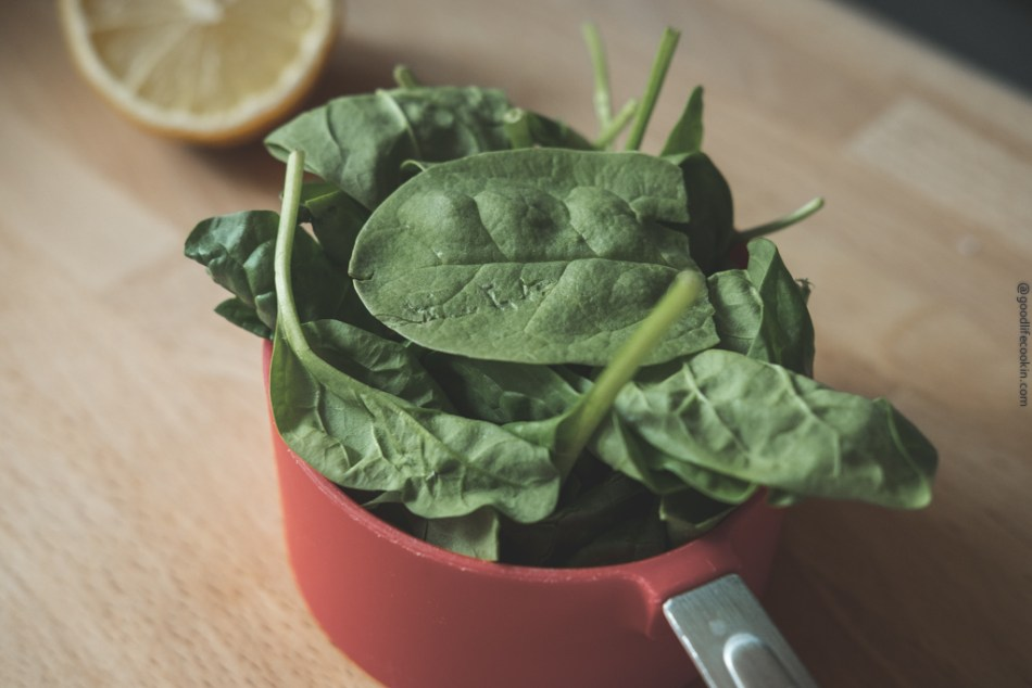 Cup of spinach
