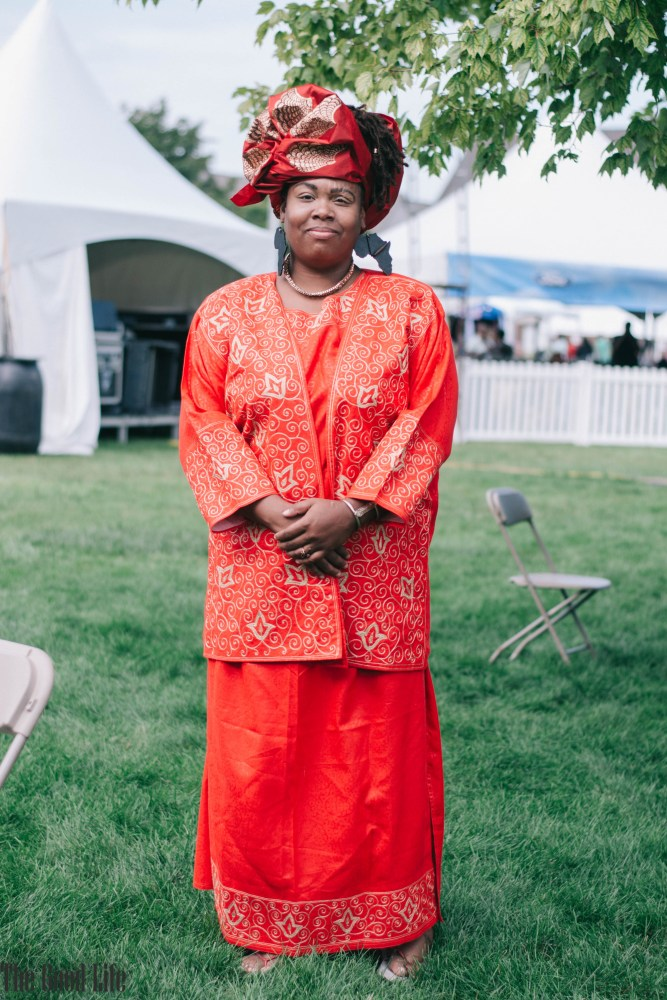 Traditional African dress and Gele headwrap