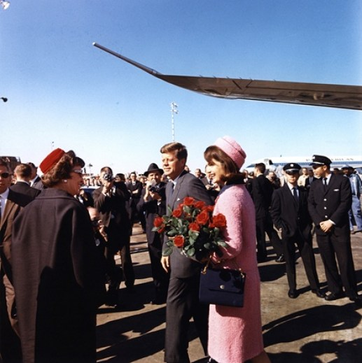 President and Mrs. Kennedy in Love Field, Dallas, Texas.