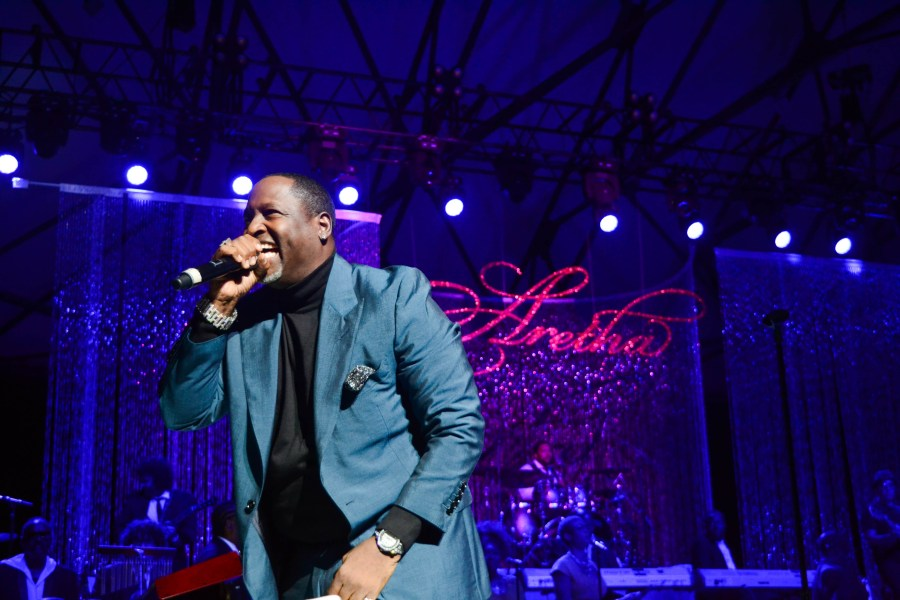 Johnny Gill tribute concert for Aretha Franklin