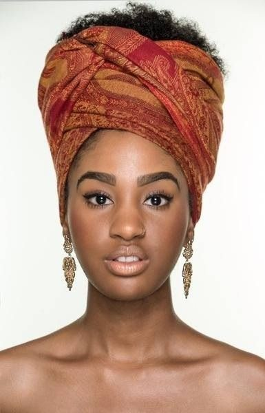 Pashmina scarves make for a nice headwrap scarf!