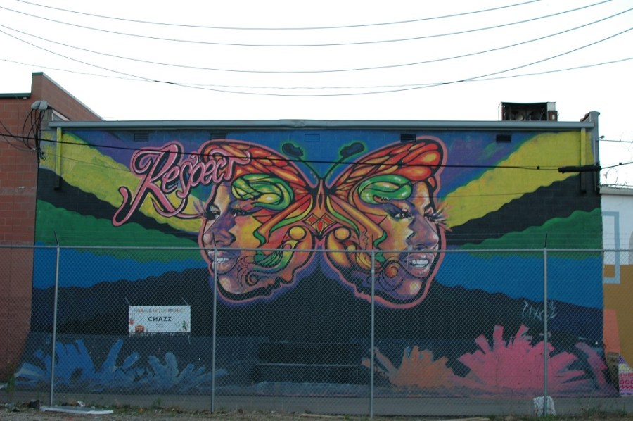 New Detroit murals from Murals in the Market. Aretha Franklin mural by Chazz Miller.