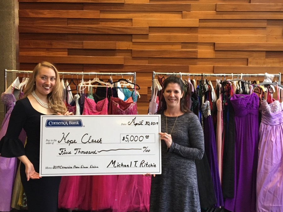 Monica L. Martinez, Senior Vice President of External Affairs for Comerica Bank and Whitney Drake, Founder of Hope Closet
