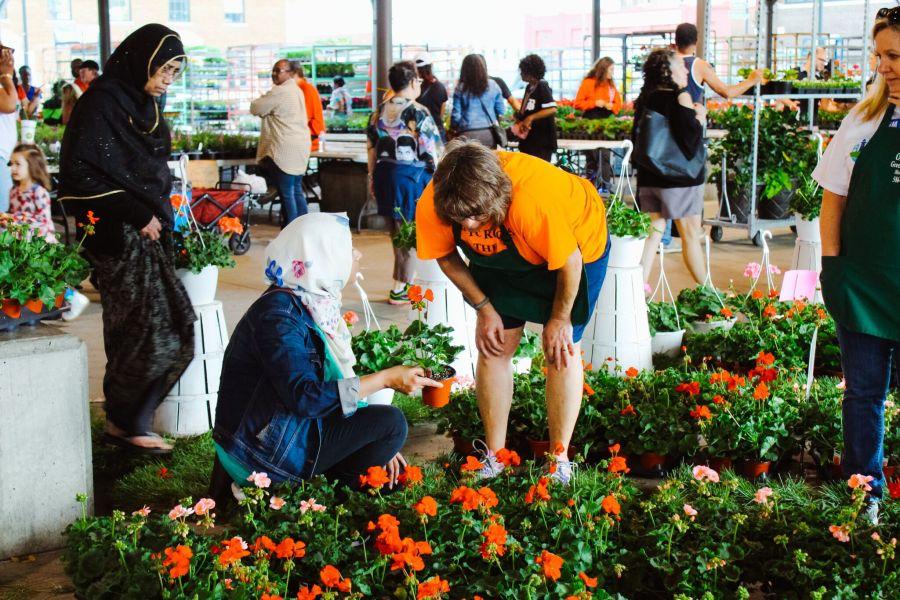 Beloved annual flower festival in Detroit, Michigan: Flower Day 2019.