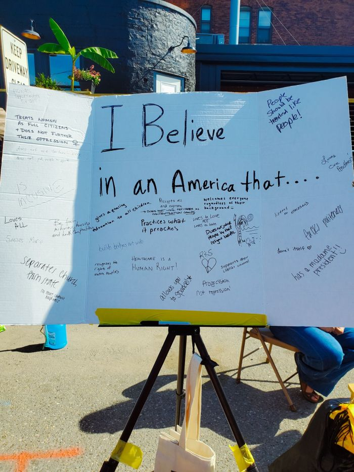 Believe America sign