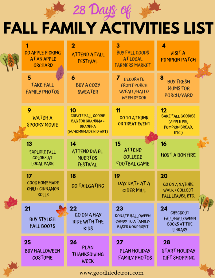 Detroit Fall Events Family Checklist