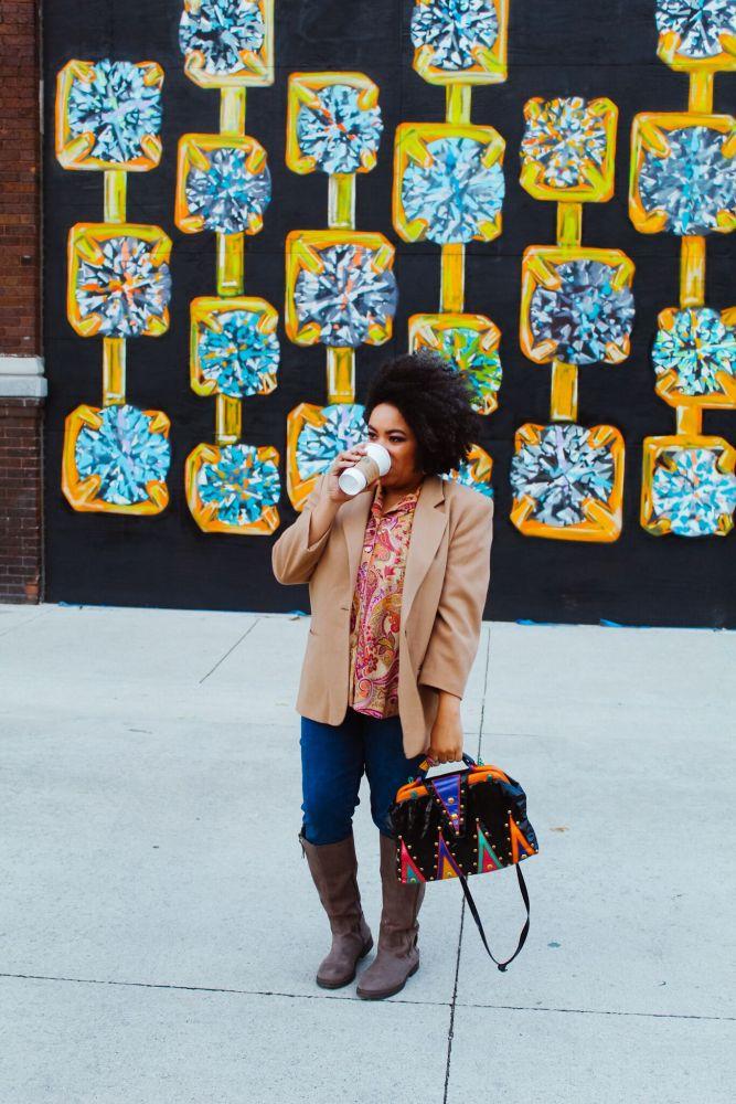 fall vintage blazer