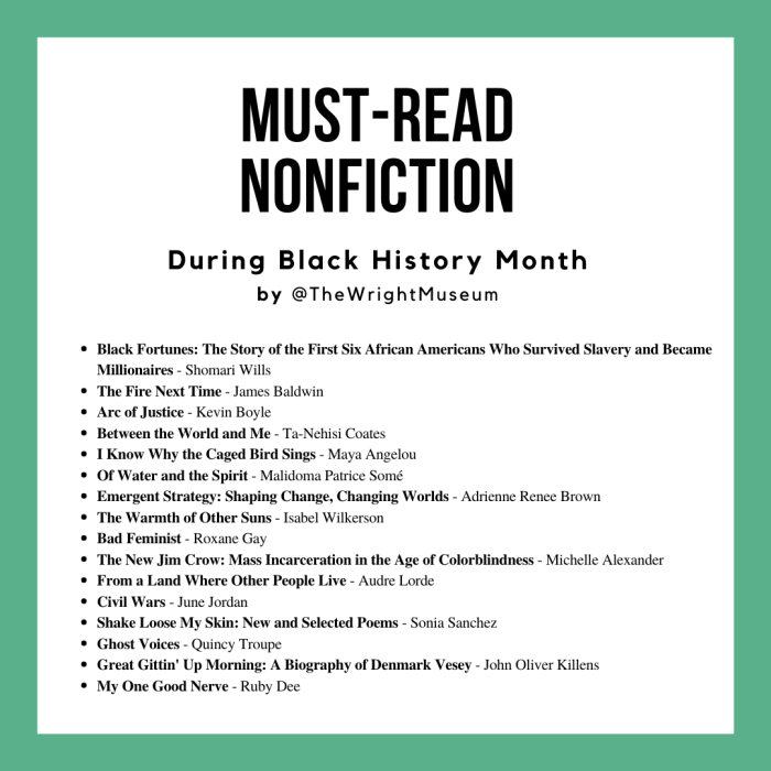Must-read African American books of nonfiction recommended by Detroit's Charles H. Wright Museum of African American History.