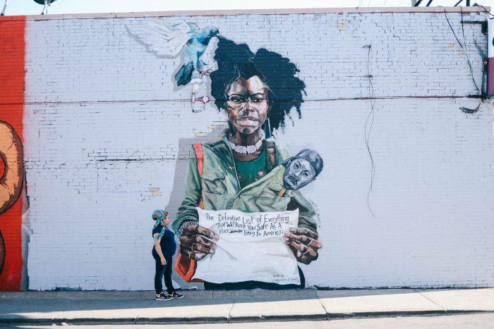 Detroit Mural Art: Sydney James Detroit artist