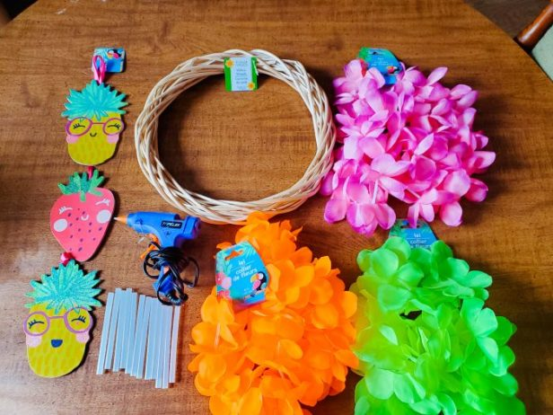 DIY Summer Wreath Supplies